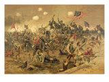 Battle of Spottsylvania Giclee Print by Thure De Thulstrup