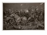 The Night Charge of the 19th Hussars Near Lydenberg on 7th November, 1900 Giclee Print by Richard Caton Woodville
