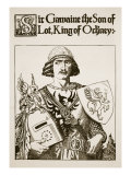 Sir Gawaine the Son of Lot, King of Orkney, Illustration 'The Story of King Arthur and His Knights' Giclee Print by Howard Pyle