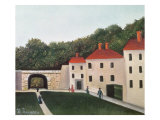 Landscape with an Arch and Three Houses, 1907 Giclee Print by Henri Rousseau