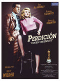 Double Indemnity, Spanish Movie Poster, 1944 Plakater
