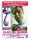 On the Waterfront, Spanish Movie Poster, 1954 Print