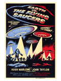 Earth vs. the Flying Saucers, 1956 Premium Giclee Print