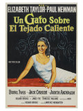 Cat On a Hot Tin Roof, Argentine Movie Poster, 1958 Prints