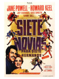 Seven Brides for Seven Brothers, Spanish Movie Poster, 1954 Premium Giclee Print