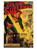 Atom Man Vs. Superman, 1948 Giclée-tryk