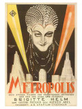 Metropolis, Swedish Movie Poster, 1926 Print