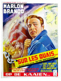 On the Waterfront, Belgian Movie Poster, 1954 Art