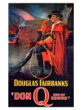 Don Q Son of Zorro, 1925 Giclée-tryk