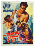 A Streetcar Named Desire, Belgian Movie Poster, 1951 Reproduction procédé giclée