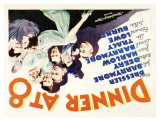 Dinner at Eight, UK Movie Poster, 1933 Reproduction procédé giclée
