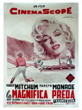 River of No Return, Italian Movie Poster, 1954 Impresso gicle
