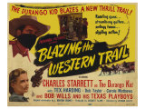 Blazing the Western Trail, 1945 Giclée-tryk