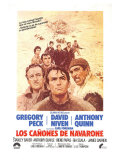The Guns of Navarone, Spanish Movie Poster, 1961 Art