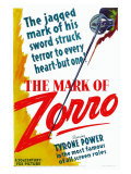 The Mark of Zorro, 1940 Lámina giclée