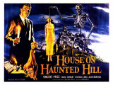 House On Haunted Hill, UK Movie Poster, 1958 Print