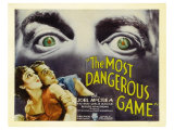 The Most Dangerous Game, 1932 Lámina giclée