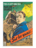 On the Waterfront, French Movie Poster, 1954 Premium Giclee Print