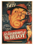 Mr. Hulot's Holiday, Spanish Movie Poster, 1953 Premium Giclee Print