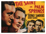 The Saint in Palm Springs, 1941 Impressão giclée