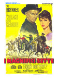 The Magnificent Seven, Italian Movie Poster, 1960 Giclee Print