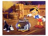 Pinocchio, 1940 Giclee-tryk i høj kvalitet