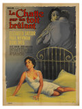 Cat On a Hot Tin Roof, French Movie Poster, 1958 Giclee Print