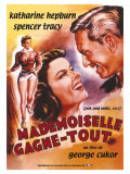 Pat and Mike, French Movie Poster, 1952 Giclee-vedos