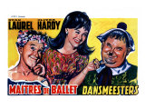 Dancing Masters, Belgian Movie Poster, 1943 Giclée-tryk