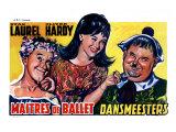 Dancing Masters, Belgian Movie Poster, 1943 Art