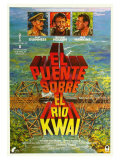 Bridge on the River Kwai, Spanish Movie Poster, 1958 Gicledruk