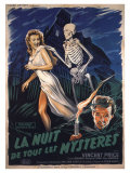 House On Haunted Hill, French Movie Poster, 1958 Lámina giclée