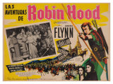 The Adventures of Robin Hood, Mexican Movie Poster, 1938 Giclee Print