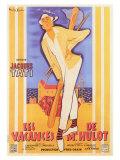 Les vacances de Monsieur Hulot : film de Jacques Tati, 1953 (Affiche française) Reproduction procédé giclée