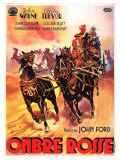 Stagecoach, Italian Movie Poster, 1939 Giclee Print