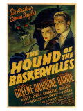 The Hound of The Baskervilles, 1939 Giclée-tryk