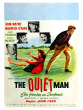 The Quiet Man, German Movie Poster, 1952 Giclee Print