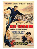 Rio Grande, 1950 Reproduction proc&#233;d&#233; gicl&#233;e