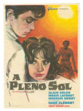Purple Noon, Spanish Movie Poster, 1964 Art
