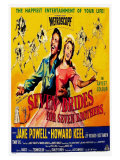 Seven Brides for Seven Brothers, UK Movie Poster, 1954 Premium Giclee Print