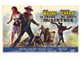McLintock, Belgian Movie Poster, 1963 Prints