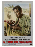 Bridge on the River Kwai, Italian Movie Poster, 1958 Gicledruk