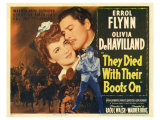 They Died with Their Boots On, 1941 Premium Giclee Print