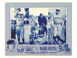 Play Ball With Babe Ruth, 1920 Reproduction procédé giclée