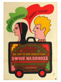 Two for the Road, Polish Movie Poster, 1967 Premium Giclee Print
