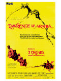 Lawrence of Arabia, Spanish Movie Poster, 1963 Prints