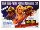 The Misfits, German Movie Poster, 1961 Print