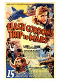 Flash Gordon en Marte Lámina giclée