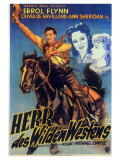 Dodge City, German Movie Poster, 1939 Premium Giclee Print