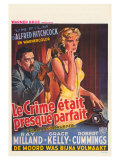 Dial M For Murder, Belgian Movie Poster, 1954 Premium Giclee Print